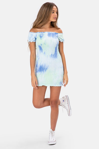 Tie-Dye Off-Shoulder Dress