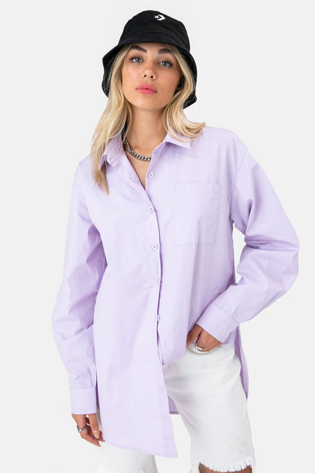 Piper Oversized Button-Down Shirt