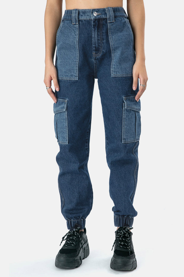 Juliette Denim Cargo Pants