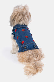 Tutti-Frutti Dog Denim Vest