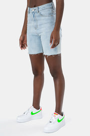 Damian Denim Biker Shorts