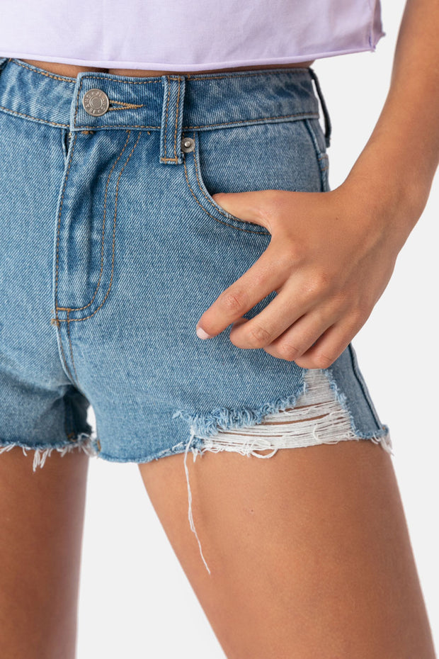 Demi Ripped Denim Shorts