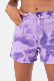 Knowles Tie-Dye Denim Shorts