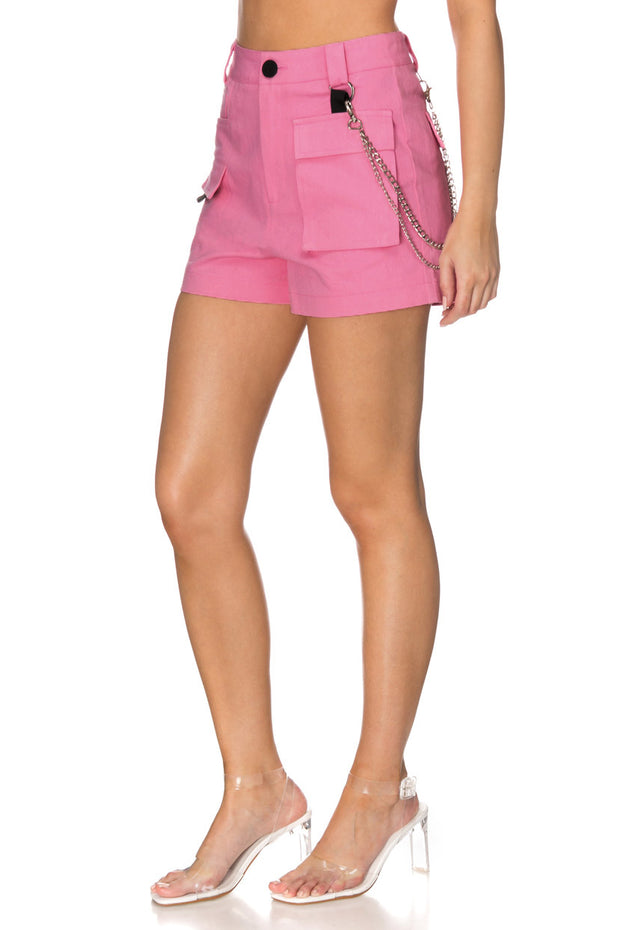 Coldberry Cargo Shorts with Gourmet Necklace