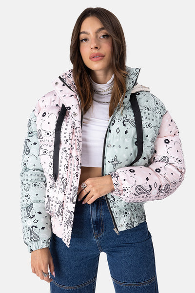 Nai Paisley Hooded Puffer Jacket