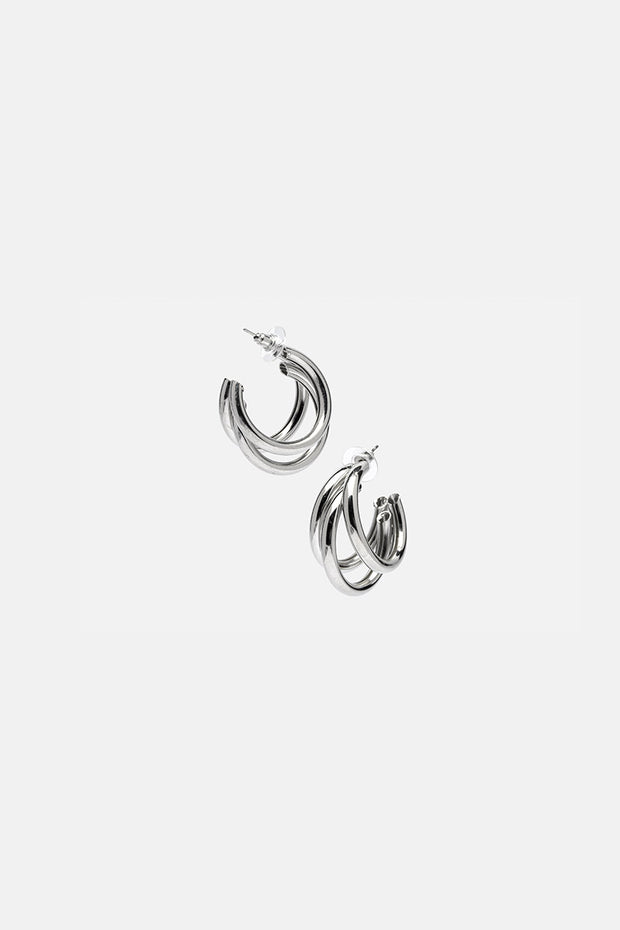 Triple-Fun Hoop Earrings