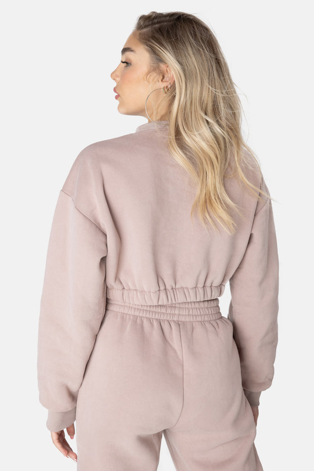 STRESS LESS Cropped Sweatshirt