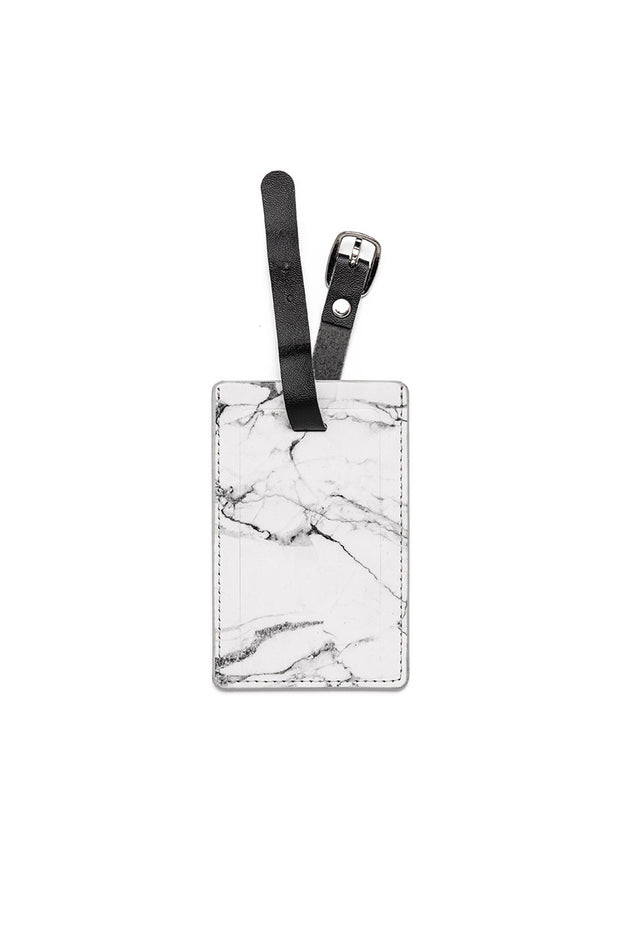 Marble Suitcase Name Tag