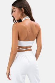 Luka Cross Wrap Halter Top
