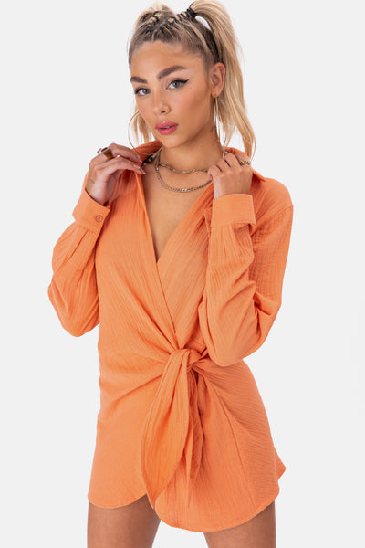 Santiago Wrap Mini Dress
