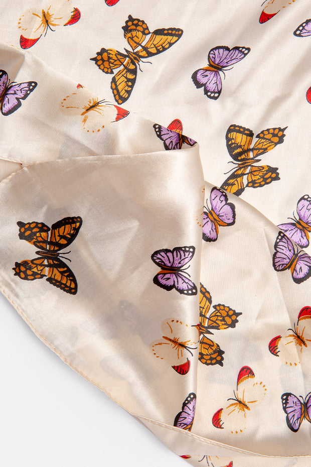 Addict Butterfly Print Headscarf