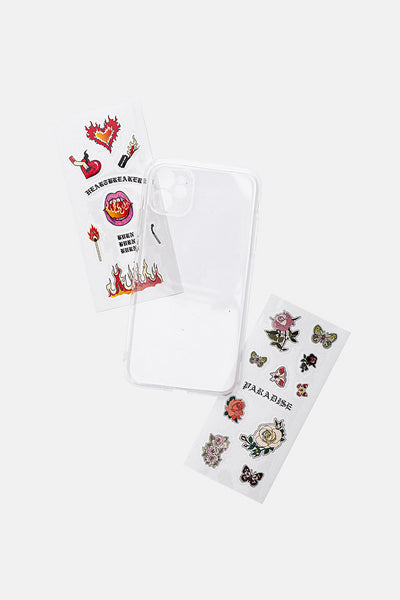 PARADISE iPhone Case Cover with Sticker Set