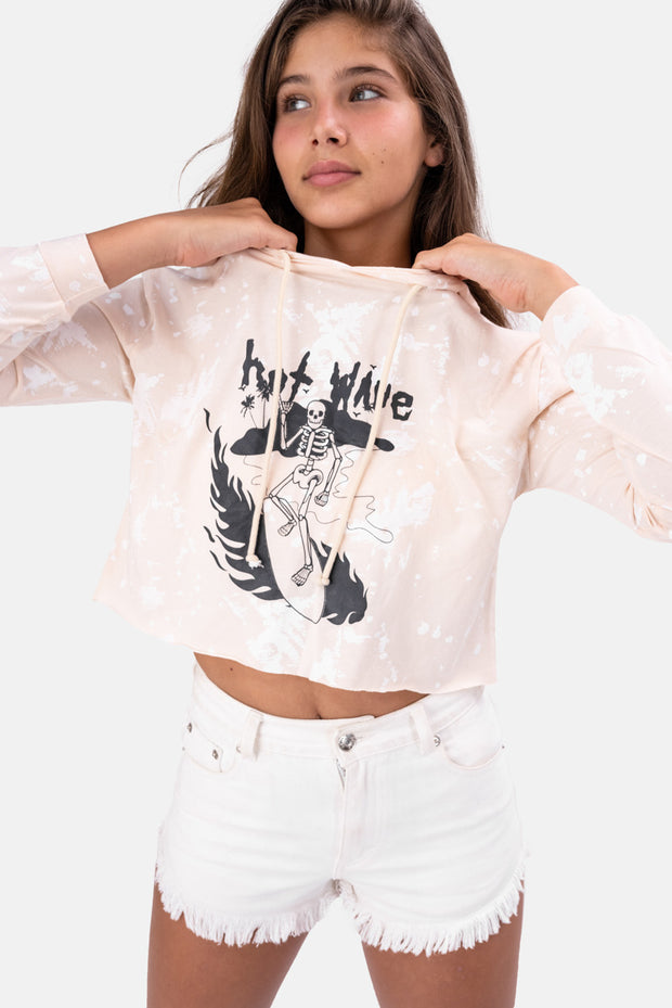 WAVE Hooded Cropped Tee