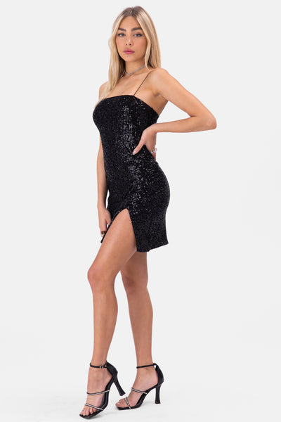 Cheri Sequins Mini Dress
