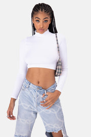 Mancina Ribbed Crop Top | SEAMLESS