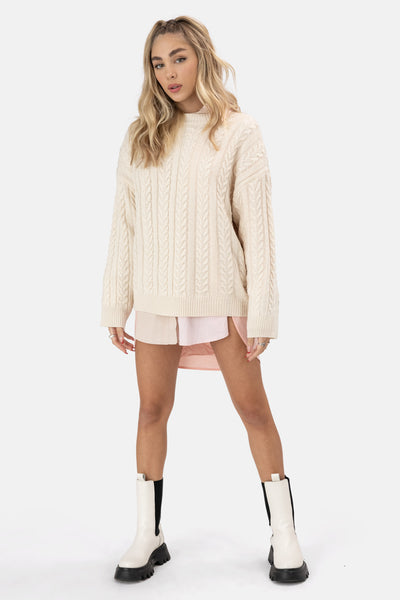 Trevino Cable Knit Sweater
