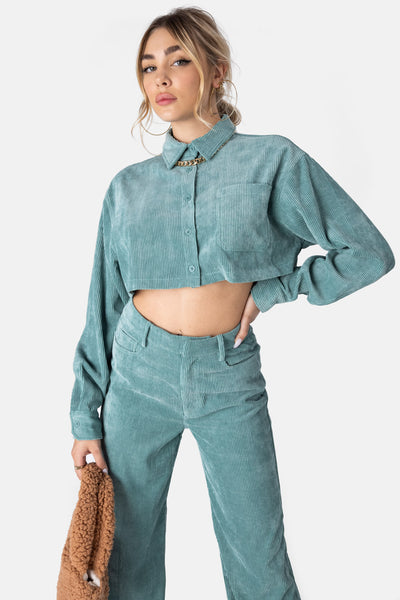 Fresco Cropped Corduroy Shirt