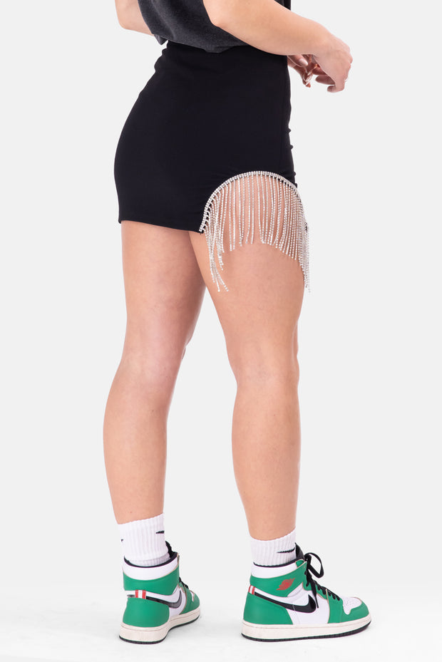 Glacier Rhinestone Detail Mini Skirt