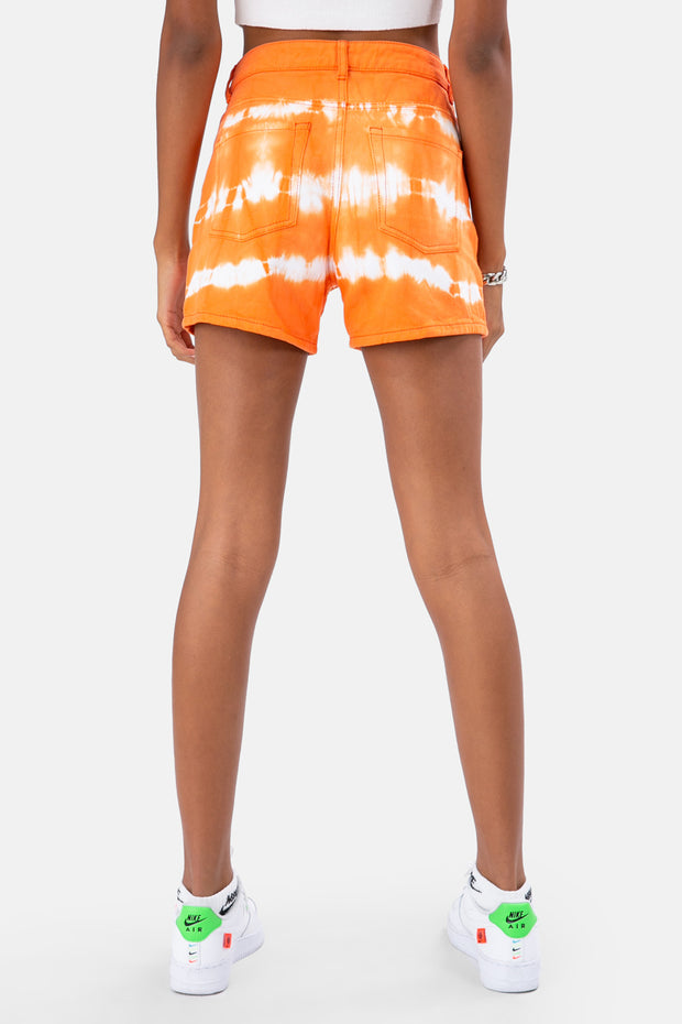 Keaton Tie-Dye Denim Shorts