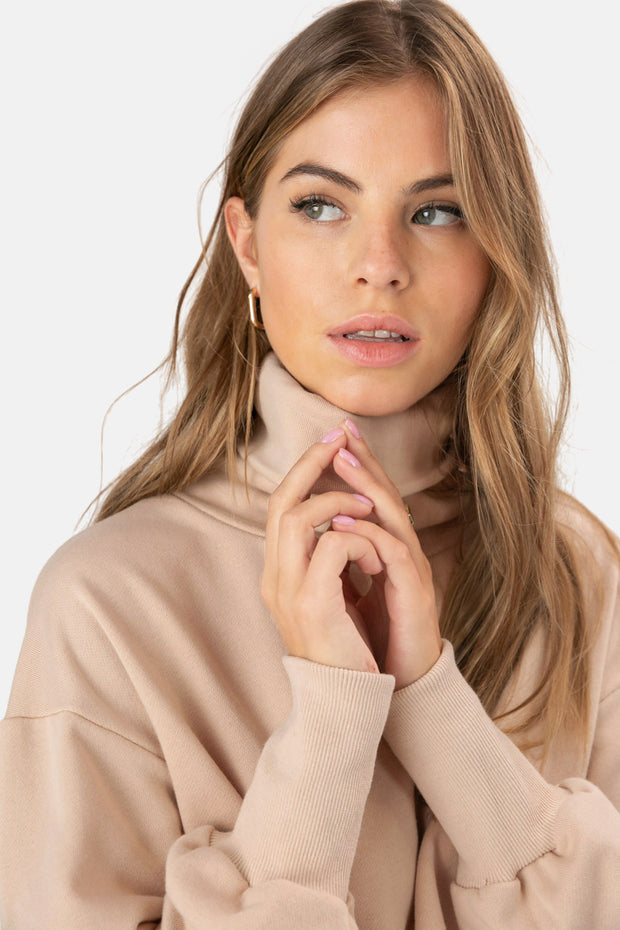 Marlow Cropped Turtleneck