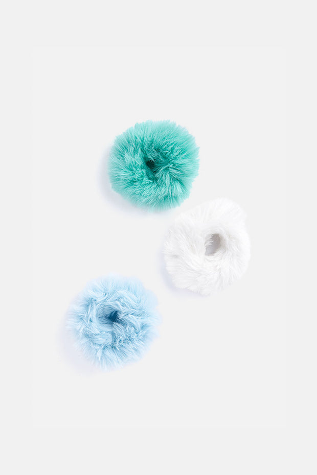 Set of 3 Fluffy Scrunchies