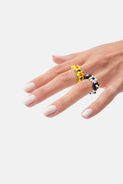 Blossom 2-Pack Beaded Rings