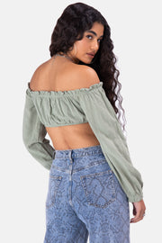 Islands Off-Shoulder Crop Top