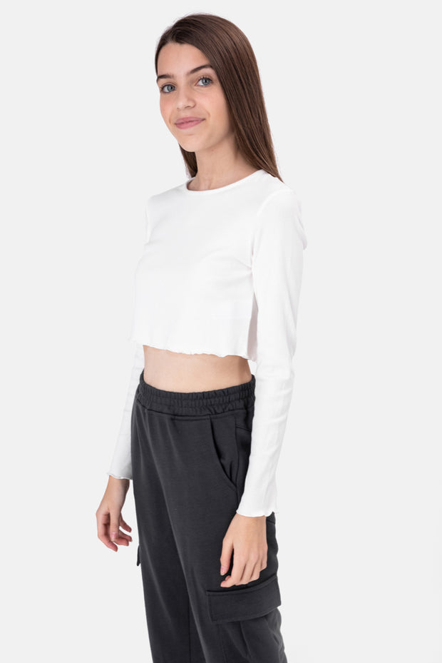 Melanie Ribbed Crop Top