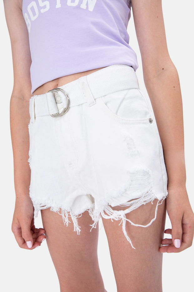 Sonic Ripped Denim Shorts