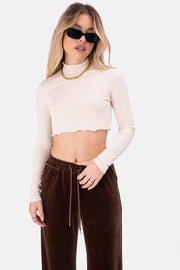 Pacific Wavy Cropped Tee