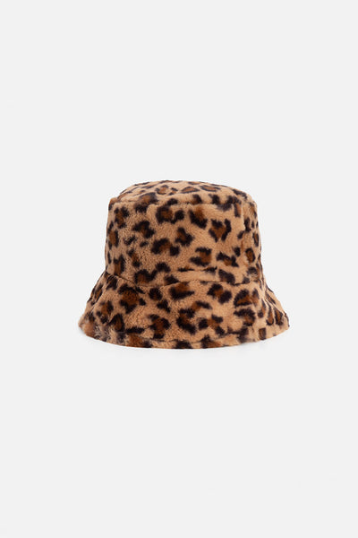 Roar Faux Fur Bucket Hat