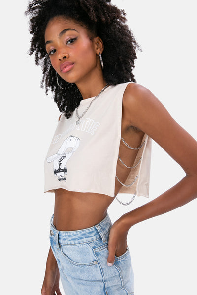 DESTRUCTIVE Chain Detail Crop Top