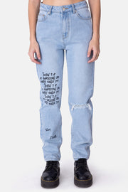 SPOKEN Ripped Jeans | MOM