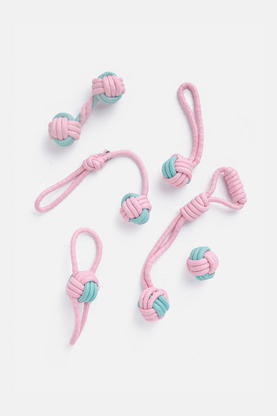 Fetchy Rope Dog Toys - 6 Pack