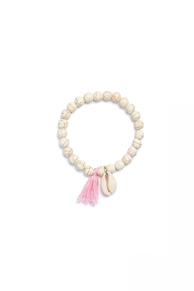 Rosary Bracelet with Shell Pendant