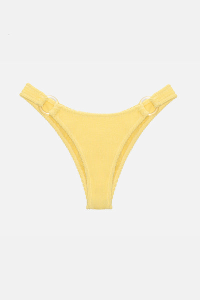 Shirred Bikini Bottom with Ring Detail