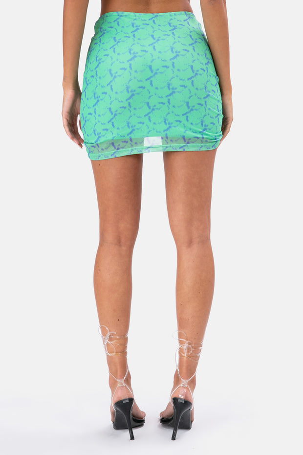 Weston Ruched Mini Skirt