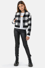 Emilia Plaid Bomber Jacket