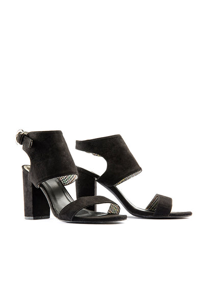 Faux Suede Cut Out Sandals
