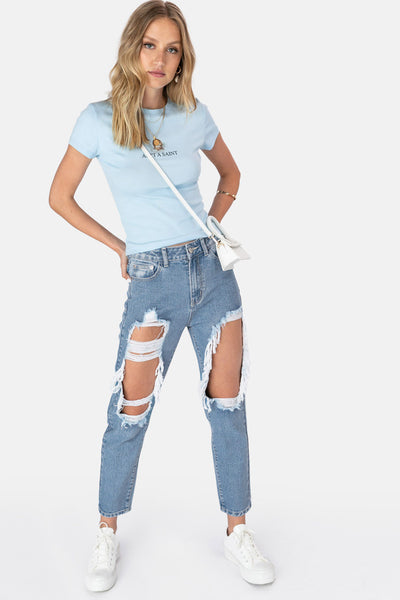 Brico Ripped Jeans | MOM