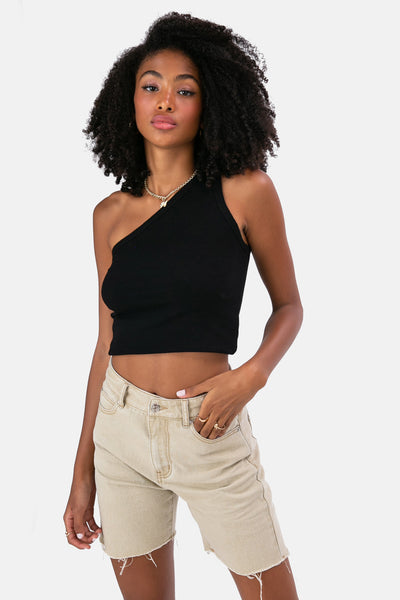 Wabi One-Shoulder Crop Top