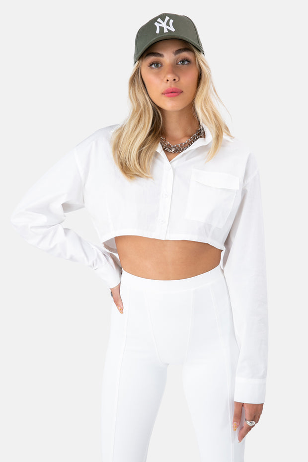 Archie Crop Button-Down Shirt
