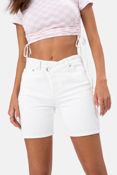 Blank Wrap Denim Shorts