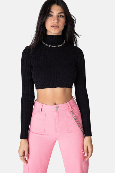 Sparkz Cropped Lurex Sweater