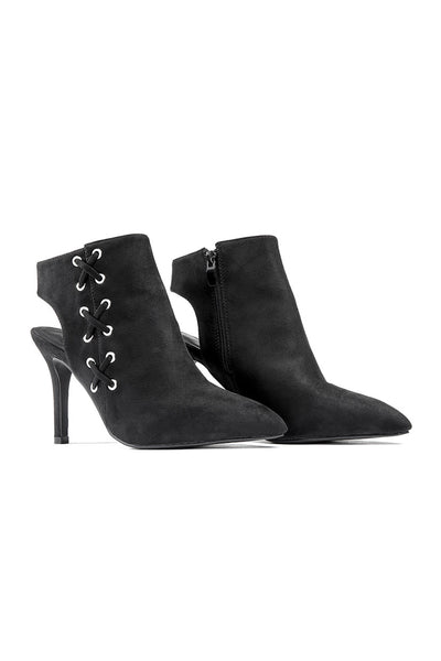 Faux Suede Cut Out Booties