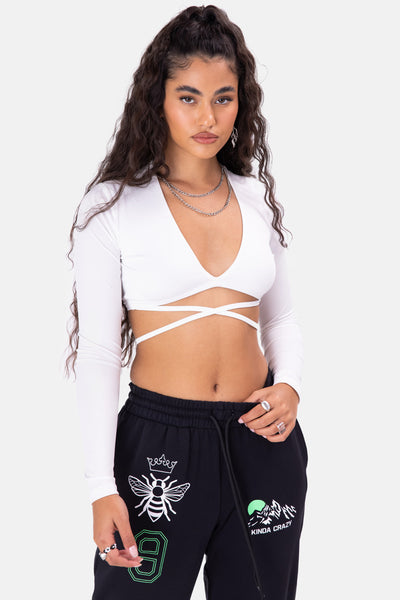 Holltis Wrap Crop Top