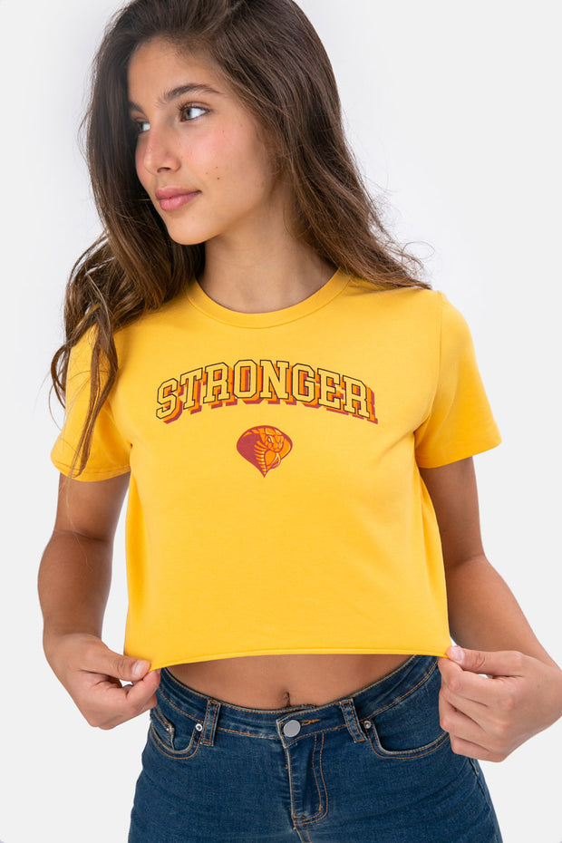 STRONGER Crop Tee
