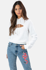 Janelle Cut-Out Hoodie
