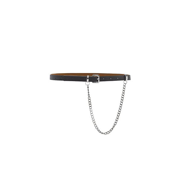 Riri Faux Leather Chain Belt