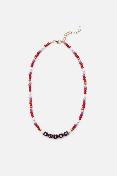 ADIOS Beaded Necklace